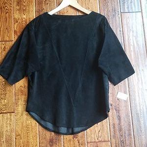 Wilsons Leather Tops - <Wilson's>  vintage suede top
